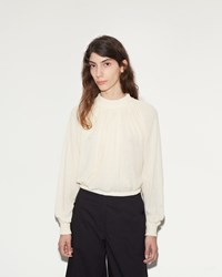 Christophe Lemaire High Collar Sweater Cream