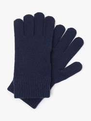 John Lewis And Partners Cashmere Gloves Navy