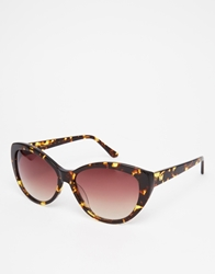 Whistles Olivia Cat Eye Sunglasses Browntort