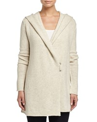Vince Sophie Long Hooded Cardigan Soft Gray