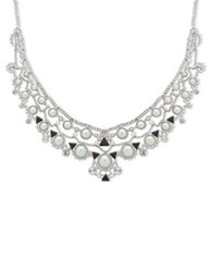 Givenchy 2Mm 14Mm Faux Pearl Collar Necklace Silver