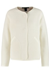 Marc By Marc Jacobs Lucinda Ribbed Cotton Blend Jacket White