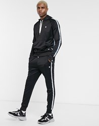 G Star Alchesai Taped Joggers In Black