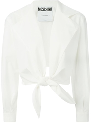 Moschino Tie Front Jacket White