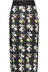 Suno Printed Wool Blend Midi Skirt Multi