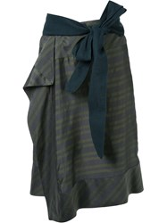 A.F.Vandevorst Striped Skirt Green