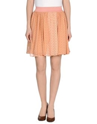 Elisabetta Franchi Knee Length Skirts Salmon Pink