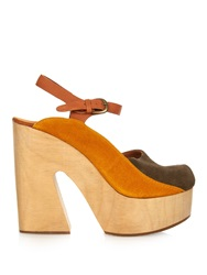 Rachel Comey Alton Bi Colour Suede Platform Sandals