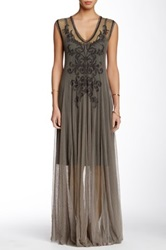 Biya Long Mesh Dress Gray