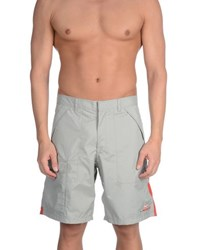 Prada Luna Rossa Swimwear Beach Trousers Men Light Grey