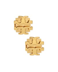 Small T Logo Stud Earrings Golden Tory Burch