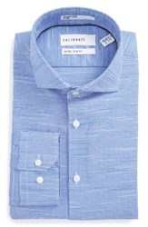 Calibrate Men's Big And Tall Trim Fit Non Iron Dress Shirt Blue Sodalite