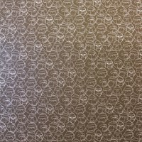 Flavor Paper Gorillion Wallpaper Graphite On Silver Mylar Brown Yellow Beige