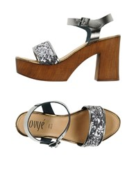 Ovye' By Cristina Lucchi Mules Silver