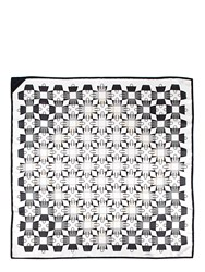 Aspinal Of London Marylebone Scarf 90X90 White