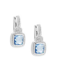 Judith Ripka Sapphire And Blue Quartz Drop Earrings Silver