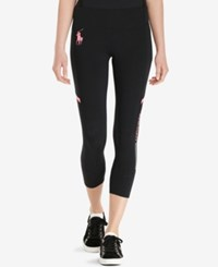 Polo Ralph Lauren Pink Pony Cropped Leggings Polo Black