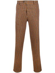 Missoni Checked Tailored Trousers Yellow And Orange