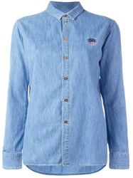 Kenzo Mini Tiger Denim Shirt Blue