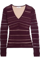 Bailey 44 Niki Open Knit Sweater Burgundy