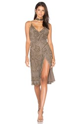 Majorelle Hollyhock Dress Taupe