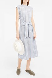 Sea Ny Women S Stripe Tie Front Dress Boutique1 Blue White Stripe