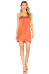 By The Way. Holden Silk Slip Dress Rust