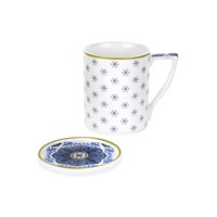 Ted Baker Mug And Coaster Set Malton Iii