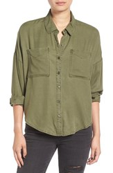 Women's Bp. Slouchy Button Front Shirt