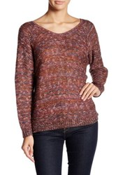 14Th And Union Double V Neck Sweater Petite Purple