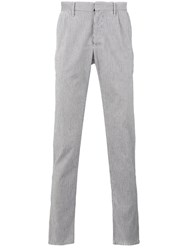 Incotex Striped Tapered Trousers Men Cotton 35 White