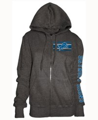 5Th And Ocean Women's Detroit Lions Backfield Le Hoodie Charcoal