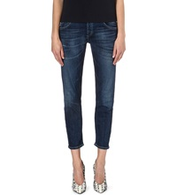 Citizens Of Humanity Emerson Cropped Boyfriend Low Rise Jeans Blue Ridge