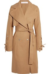 See By Chloe Linen And Cotton Blend Trench Coat Camel