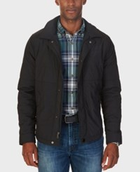 Nautica Men's Quilted Shirt Jacket True Black