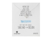Dogeared Take Me To The Ocean Classic Anchor Necklace Sterling Silver Necklace