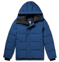 Canada Goose Macmillan Fusion Fit Quilted Arctic Tech Hooded Down Parka Blue