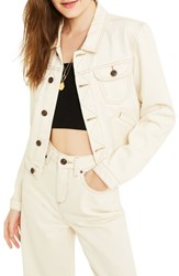 Bdg Urban Outfitters '90S Shrunken Denim Jacket Ivory