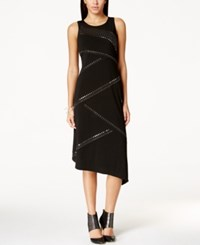 Spense Petite Asymmetrical Studded Dress