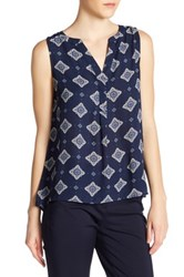 Philosophy Hi Lo Sleeveless Blouse Blue