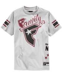 Famous Stars And Straps Famous Stars And Straps Family Logo Graphic T Shirt Silver