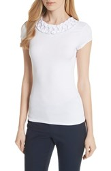 Ted Baker Bow Trim Tee White