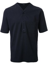 Christophe Lemaire V Neck T Shirt Black