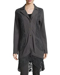 Xcvi Paisley Crochet Detailed Jacket London Grey