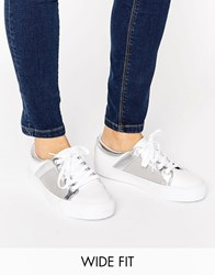 Asos Dani Wide Fit Mesh Trainers White