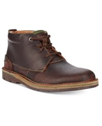 Clarks Men's Edgewick Mid Chukka Boots Men's Shoes Brown Oily Leather