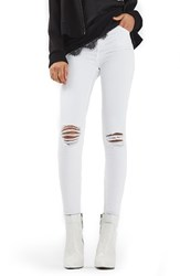 Topshop Women's Jamie Ripped Skinny Jeans
