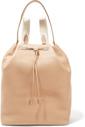The Row Leather Backpack Beige
