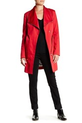 Soia And Kyo Belted Trench Coat Red