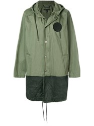 Marc Jacobs Contrast Panel Parka Green